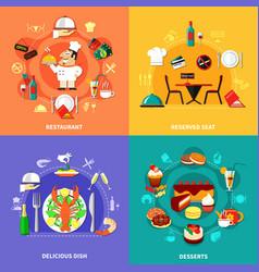 Food spot compositions set vector