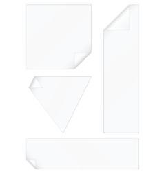 peeled corners stickers set vector image vector image