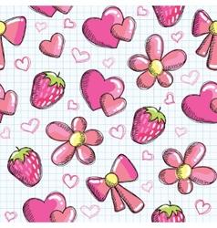 romantic elements vector image vector image