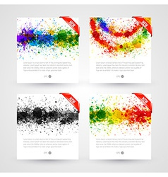 Set of bright paint splashes vector image vector image