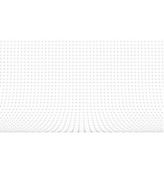 3d curved perspective grid background on white vector