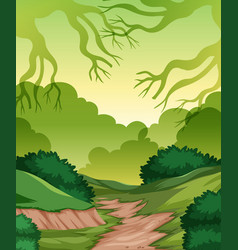 a greem nature template vector image