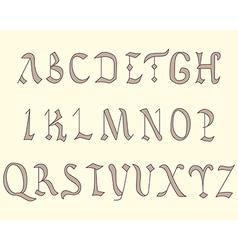 alphabet vatican eighth century vector image