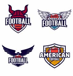 american football logo badge vector image