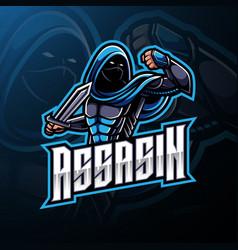 Assassin sport mascot logo design vector