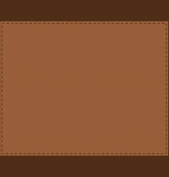 Background cloth with stitches vector