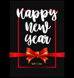 beautiful greeting card happy new year on black vector image