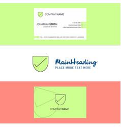 Beautiful sheild logo and business card vertical vector