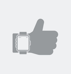 Best smartwatch approvation icon vector