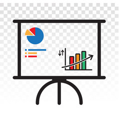 Business presentation financial growth vector