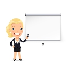 Businesswoman Gives a Presentation or Seminar vector image