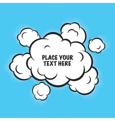 Cartoon pop art clouds isolated background vector image