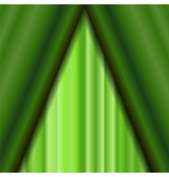 Cinema closed green curtain vector