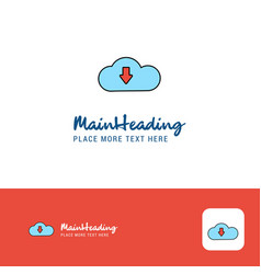 creative downloading logo design flat color logo vector image