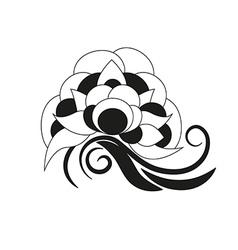 decorative flower design element vector image