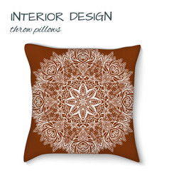design cushions home interior throw pillows vector image