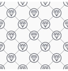 Diamond gemstone icons vector image