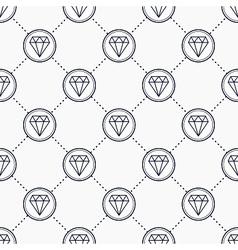 Diamond gemstone icons vector image