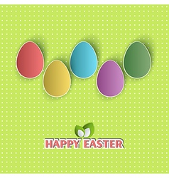 Easter backdrop vector image