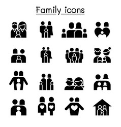 family people icon set graphic design vector image