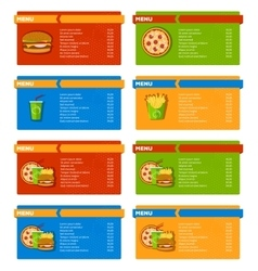 Fast Food Menu Banners vector