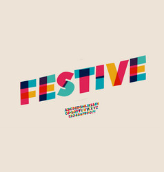 festive font color style for poster t shirt book vector image