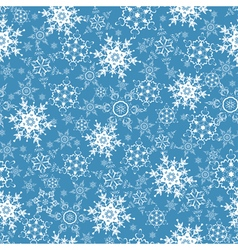 Festive seamless pattern with ornate snowflakes vector image