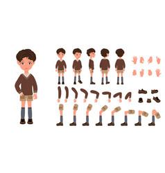 Flat conceptual of kid boy vector