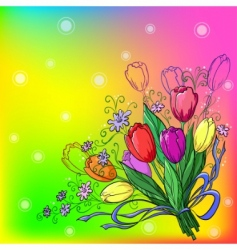 flower tulips background vector image
