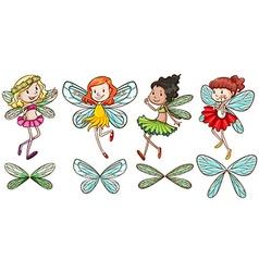 Four fairies vector image