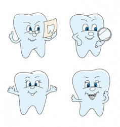 funny teeth vector image