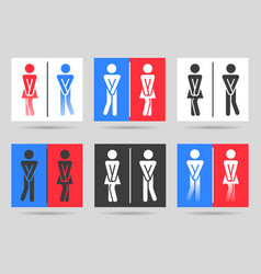 funny toilet signs vector image