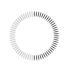 geometric circle element made of radiating shapes vector image