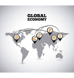 global economy vector image