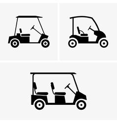 Golf carts vector