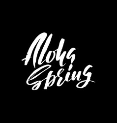 Hand lettered style spring design on a white vector