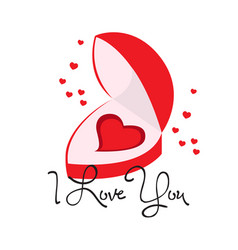 heart shaped wedding ring valentine day vector image