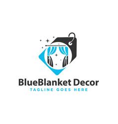 home decoration sale shop logo vector image