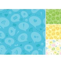 Internet message symbols seamless pattern vector