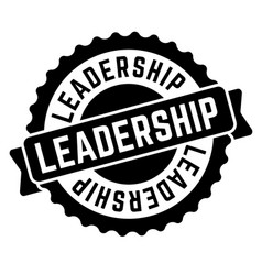 leadership stamp on white vector image