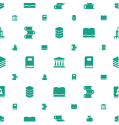 Library icons pattern seamless white background vector