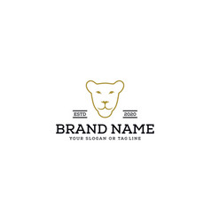 Logo design female lion head vector
