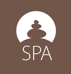 Logo round stones for spa salon vector