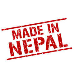 Made in nepal stamp vector