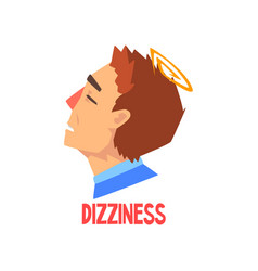 Man suffering from headache and dizziness disease vector