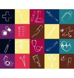 medical set vector image