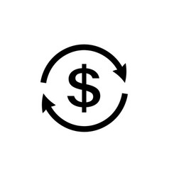 money transfer icon dollar reload icon vector image
