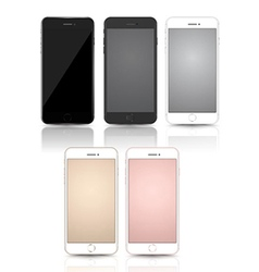 New smartphone collection mockups vector image
