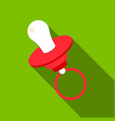 nipple flate icon for web and mobile vector image