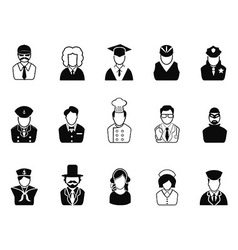 Occupations Avatars User Icons set vector image